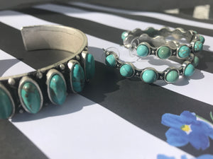 "Natural Turquoise ""C"" Cuff Bracelet"