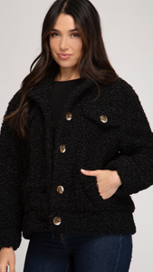 Black Teddy Bear Jacket