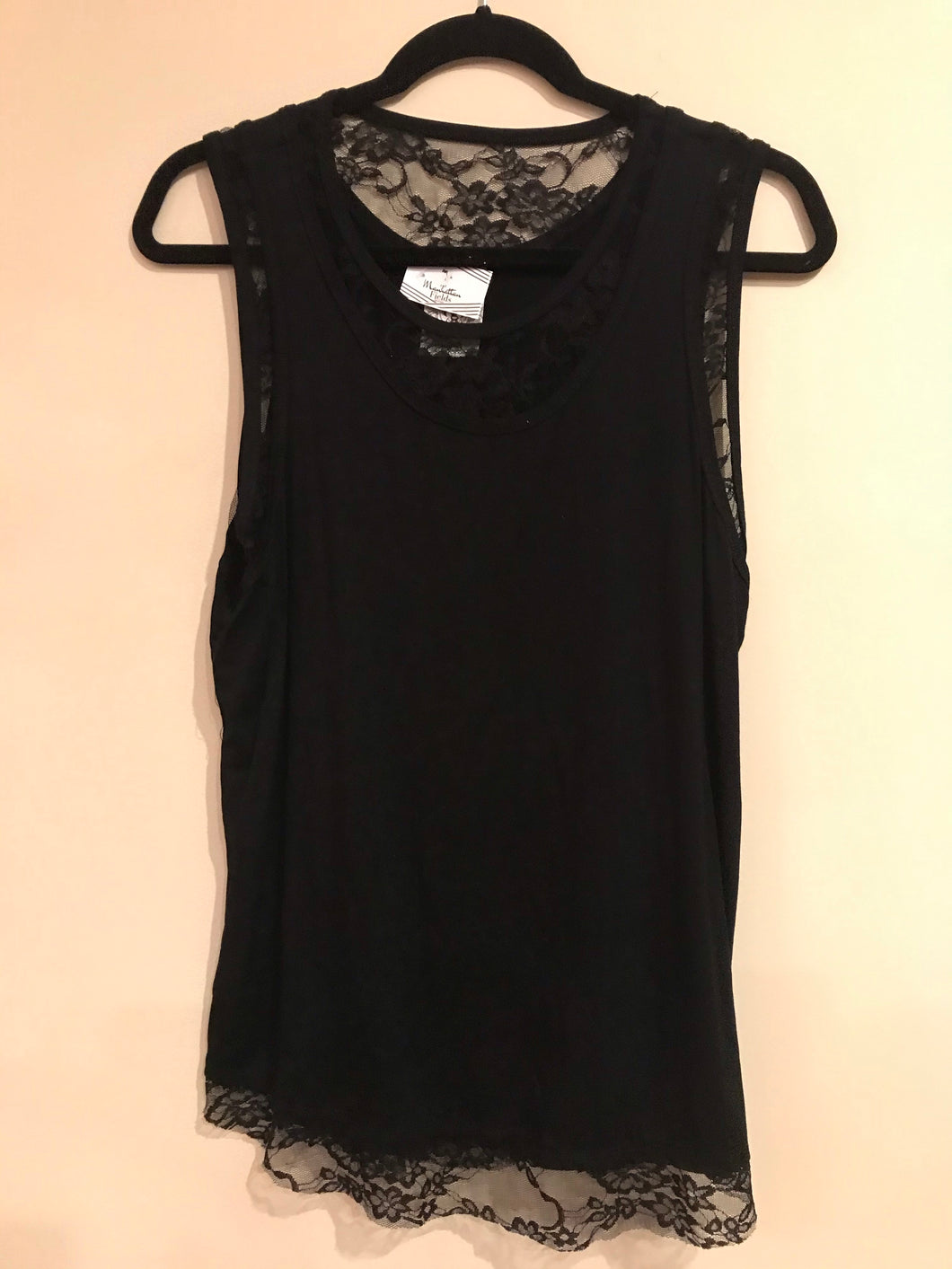 Black With Lace insert and Hem