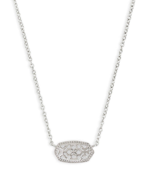 Kendra Scott Elisa Rhodium Filigree Necklace
