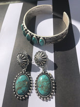 Load image into Gallery viewer, Natural Turquoise Oval Post Earrings