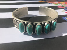 "Load image into Gallery viewer, Natural Turquoise ""C"" Cuff Bracelet"