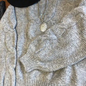 Gail's Grey Soft Sweater