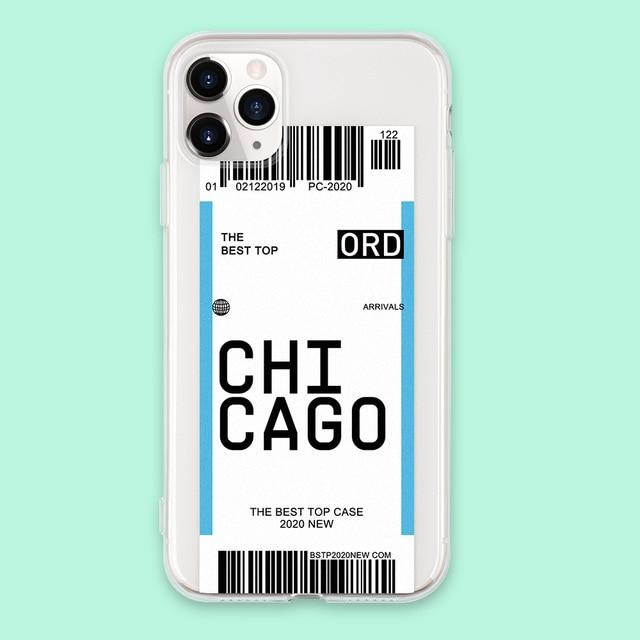 Air ticket Iphone case Chicago