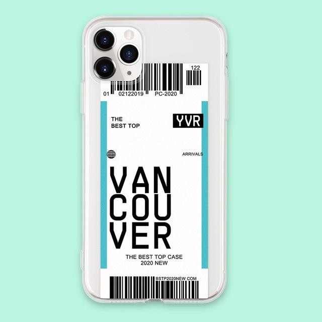 Air ticket Iphone case Vancouver