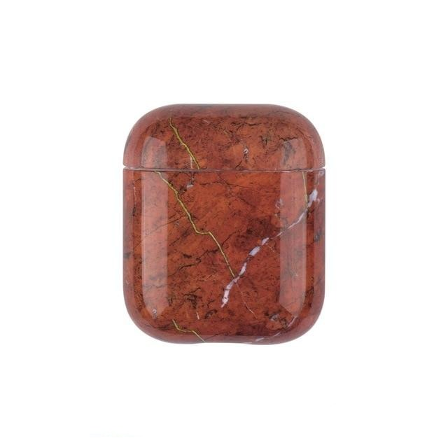 Brown Marble case Airpods