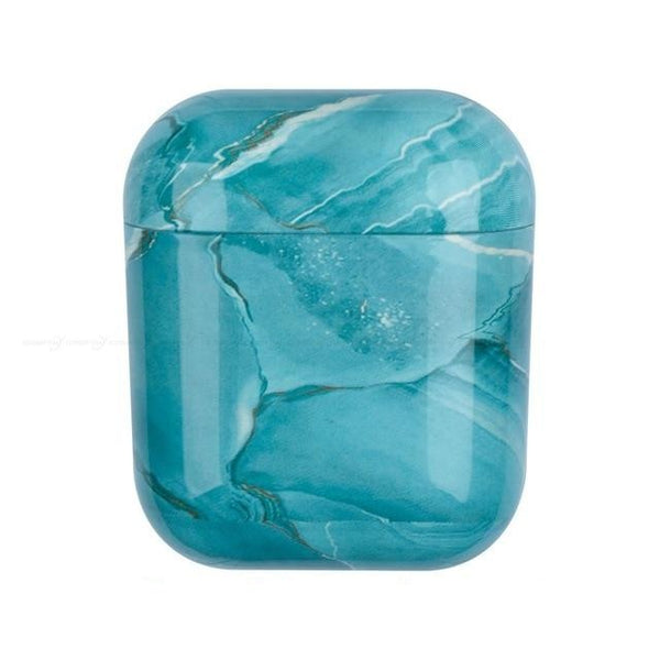 Turquoise Marble case Airpods