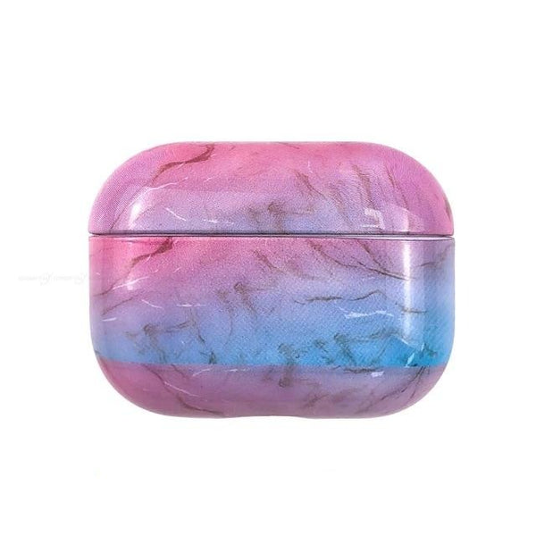 Pink and blue marble case Airpods pro