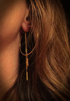 14K Gold Post Bar Chain Earring Backs | Avie Fine Jewelry