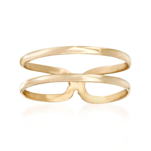 14K Gold Double Band Ring | Avie Fine Jewelry