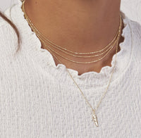 14K Gold Feather Charm Necklace | Avie Fine Jewelry