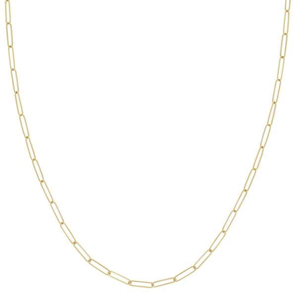 14K Gold Medium Paperclip Link Chain Necklace | Avie Fine Jewelry
