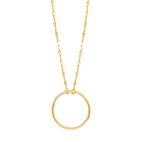 14K Gold Circle Sequin Chain Necklace | Avie Fine Jewelry