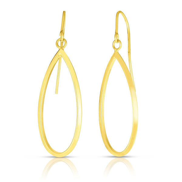 14K Gold Teardrop Dangle Earrings | Avie Fine Jewelry