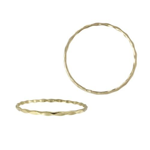 Almost There 14K Gold Hammered Stacking Ring | Avie Fine Jewelry