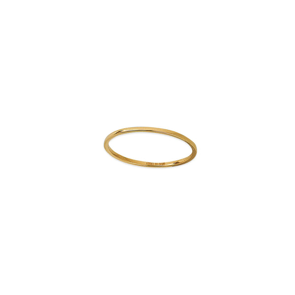Almost There 14K Gold Thin Round Wire Stacking Ring | Avie Fine Jewelry