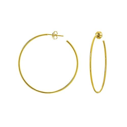 14K Gold 40mm Post Hoop Earrings | Avie Fine Jewelry