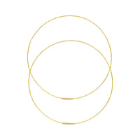 14K Gold 60mm Large Endless Hoop Earrings | Avie Fine Jewelry