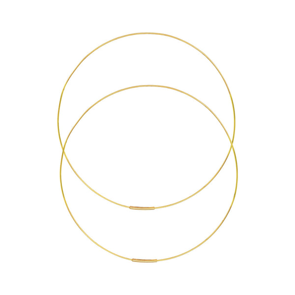 14K Gold 75mm Large Endless Hoop Earrings | Avie Fine Jewerly