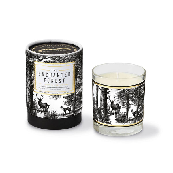 Chase and Wonder Enchanted Forest Glass Luxury Scented Candle | Avie Collection