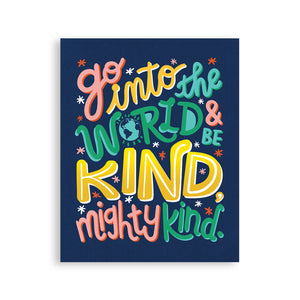 Mighty Kind Quote Printable Poster
