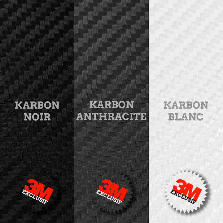 plak feuille A4 A5 vinyle 3M imitation carbone (variations couleurs) covering auto moto