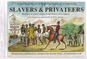 Front cover of pack of reproduction documents showing an illustration  of several slaves being overseen by a man on a horse.