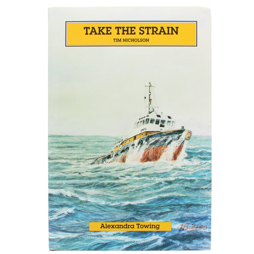 Front cover of Take the Strain, showing a ship foundering in heavy seas.