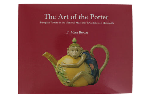 Front cover of The Art of the Potter showing a teapot in the shape of a monkey.
