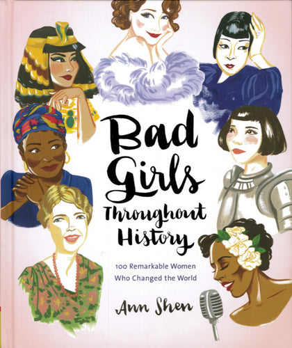 Front cover of Bag Girls Throughout History with illustrations of seven women.