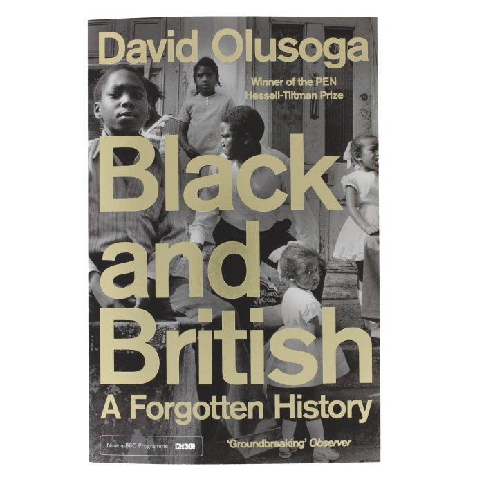 Front cover of Black and British, showing a montage of black and white photos of black children