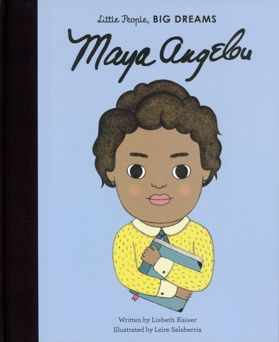Front cover of the Maya Angelou children's book showing an illustration of Maya Angelou.