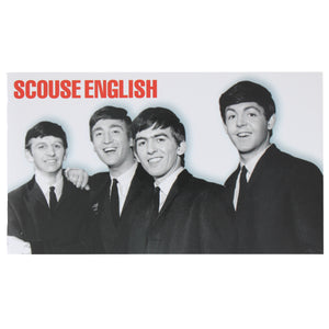 Front cover of Scouse English featuring a photograph of the Beatles.