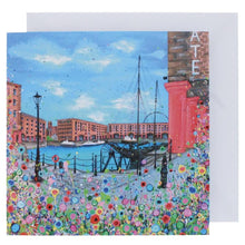 Load image into Gallery viewer, Floral Albert Dock Greeting Card