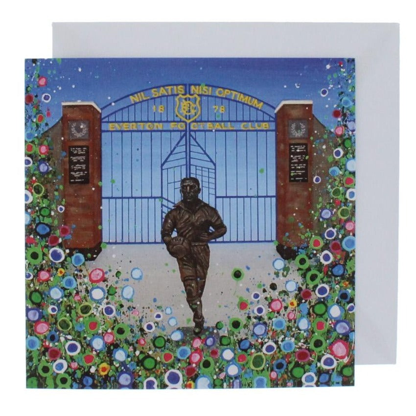 Floral EFC Dixie Dean Greeting Card
