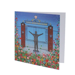 Floral LFC Shankly Gates Greeting Card