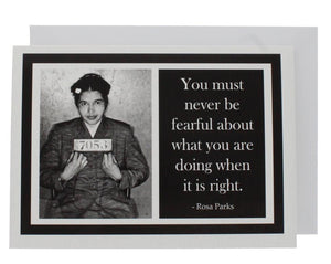 Quote Rosa Parks Greeting Card
