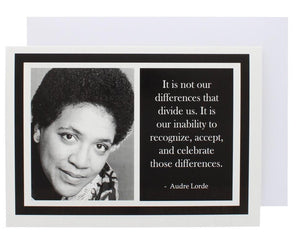 Quote Audre Lorde Greeting Card