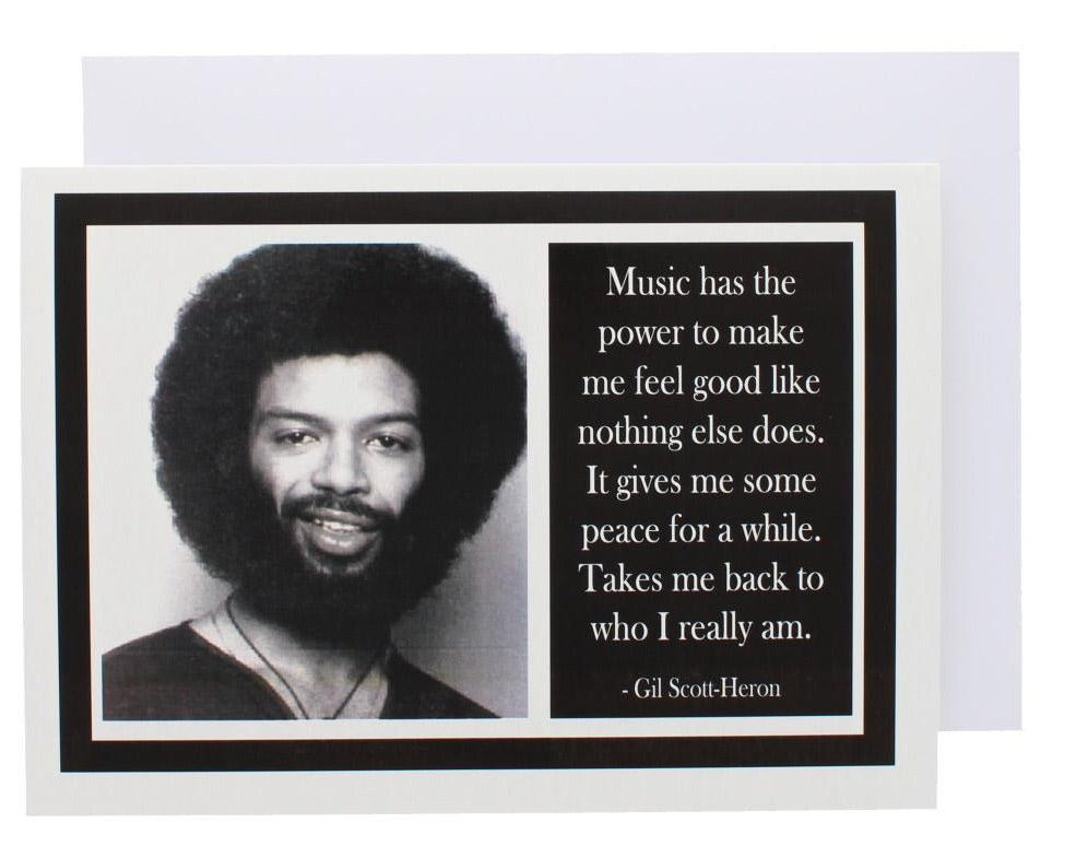 Quote Gil Scott-Heron Greeting Card