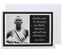 Load image into Gallery viewer, Quote Jesse Owens Greeting Card