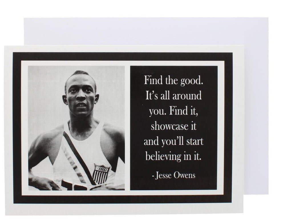 Quote Jesse Owens Greeting Card