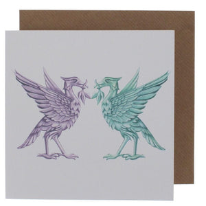 Liverpool Liver Birds Greeting Card