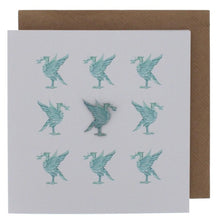 Load image into Gallery viewer, Liverpool Liver Bird Card and Pin Badge