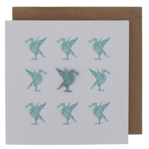 Liverpool Liver Bird Card and Pin Badge