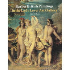 Front cover of Earlier British Paintings in the Lady Lever Art Gallery book, featuring a classical style painting of three nude women and a cherub.