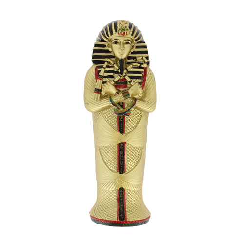Small replica pharoh's sarcophagus.