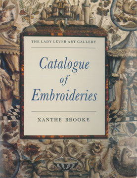Front cover of Catalogue of Embroideries showing detail from an embroidery.