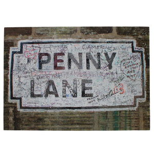 Penny Lane Street Sign Canvas