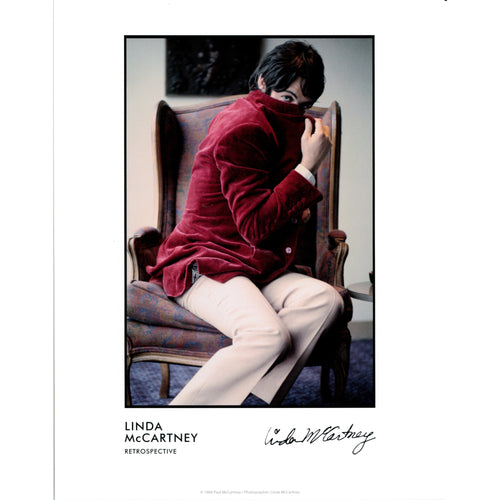 Paul in Velvet Jacket Print