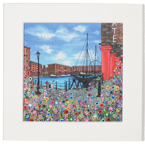 Floral Albert Dock Mounted Print